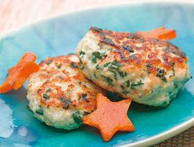 ホウレン草の豆腐ハンバーグ