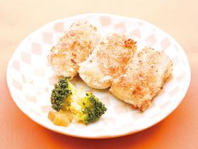 サツマイモと鮭の焼きコロッケ