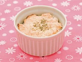 豆腐とアスパラガスの味噌ドリア