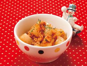 カブと鶏肉のトマト煮