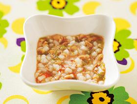 納豆とオクラの混ぜうどん