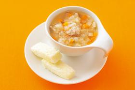 根菜のスープ ~パン添え~