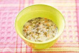 秋ナスの豆乳海苔汁
