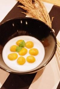 かぼちゃ白玉のミルクぜんさい.JPG