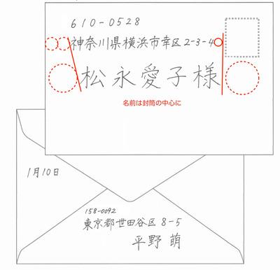 書き方 手紙 封筒